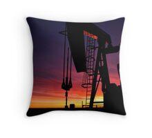 Bakken oil well. Throw Pillow