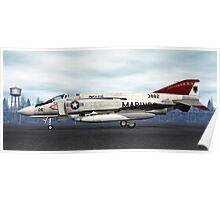 F-4J Phantom (VMFA-235 Death Angels) Poster