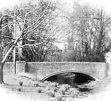 The old bridge at West Dean by Jem Dowse