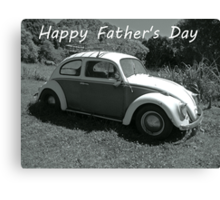 """VW Beetle - """"Happy Father's Day"""" Card Canvas Print"""