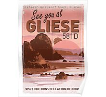 Exoplanet Travel Poster GLIESE 581 Poster