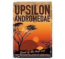 Exoplanet Travel Poster UpsilonAndromedae 4 Photographic Print