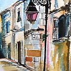 Lampost on Rue Reattu by Nyx Martinez