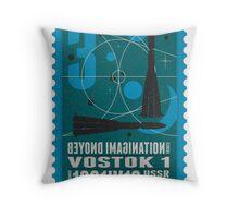 Starship 03 - poststamp - Vostok Throw Pillow