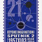 Starship 21 - poststamp - Sputnik2 by Chungkong