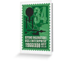 Starship 34 - poststamp - USS Enterprise  Greeting Card