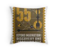 Starship 55 - poststamp - DicoveryOne  Throw Pillow