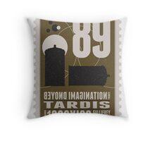 Starship 89 - BONUS - poststamp - DRWHO - TARDIS Throw Pillow