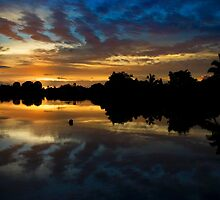 Sunrise over the Navua River, Viti Levu, Fiji by Colin Munro