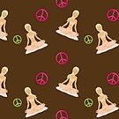 Peace, Love, Yoga Case - Brown by JessDesigns