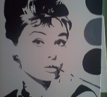 audrey hepburn by canvasarts1