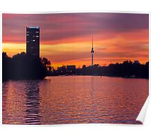 Sunset in Berlin, Germany Poster