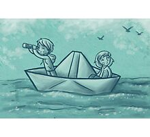 Paper Boat Adventures Photographic Print