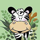 Cute Zebra in the Jungle by JessDesigns