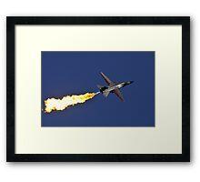 F-111 Dump and Burn Framed Print