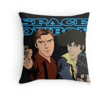 Space Cowboys Spike & Mal Throw Pillow