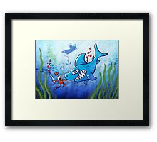 Sharks are Furious, Stop Finning! Framed Print