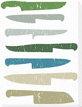 Chef's knives by sledgehammer