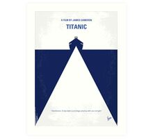 No100 My Titanic minimal movie poster Art Print