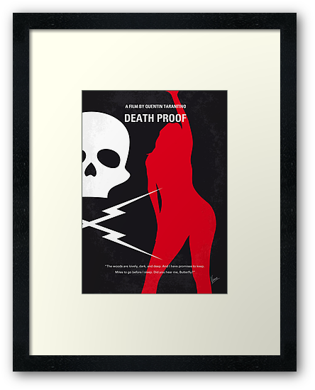 No018 My Death Proof minimal movie poster by Chungkong