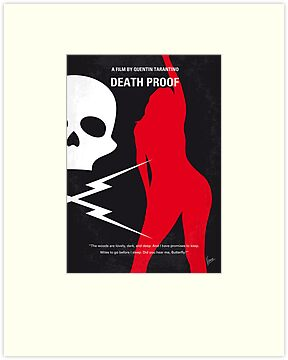 No018 My DeathProof minimal movie poster by Chungkong