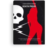 No018 My Death Proof minimal movie poster Canvas Print