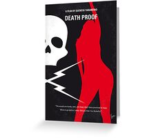 No018 My Death Proof minimal movie poster Greeting Card