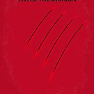 No026 My Enter the dragon minimal movie poster by Chungkong