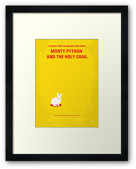 No036 My Monty Python And The Holy Grail minimal movie poster by Chungkong