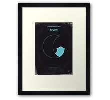 No053 My Moon 2009 minimal movie poster Framed Print