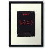 No066 My predator minimal movie poster Framed Print