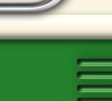 Cream Green Camper Van Sticker
