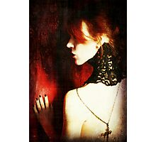 Crimson and Lace Photographic Print