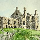 Dunskey Castle - West Scotland by Lynne  M Kirby BA(Hons)