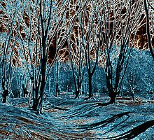 English Forest Trees Digital art by DavidHornchurch