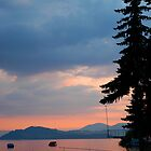 View of lake at sunset, Slovakia by Magdalena Warmuz-Dent