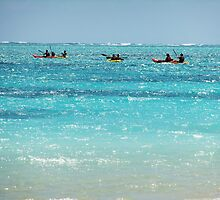 Lanikai Paddlers by jlv-