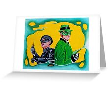 THE GREEN HORNET AND KATO Greeting Card