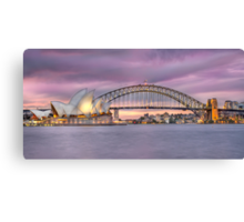 sunset over Sydney Harbour Canvas Print
