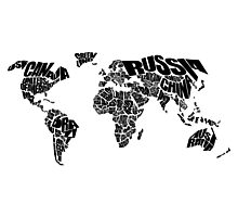 World Text Map Photographic Print