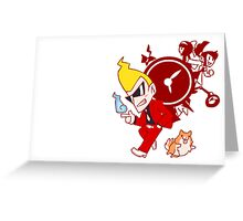 the ghost detective Greeting Card