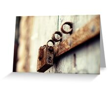 Lock it up in Trani Greeting Card