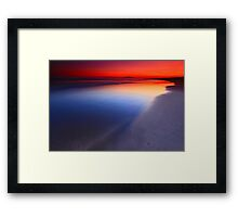 Seven Mile Beach Sunset Framed Print