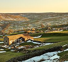 Last Light Over Swaledale by Mat Robinson