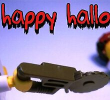 """Happy Halloween"" Custom LEGO® Halloween Dr Toxic Minifigure Greeting Card, by 'Customize My Minifig' by Chillee"