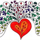 heart bouquet by Sandi  Campbell