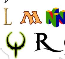 The alphabet of Geekdom Sticker
