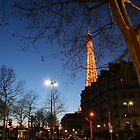 City of light, Eiffel at nightfall by Potz