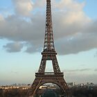 Eiffel Tower as evening draws in by Potz