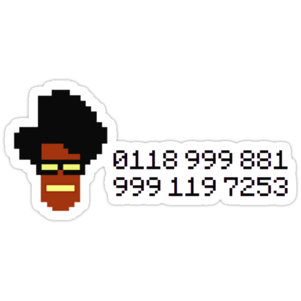 The IT Crowd Moss Emergency Number by PlainOlBrod